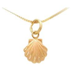 14k Gold Seashell Charm/Pendant
