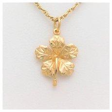 Vintage 14k Gold Flower Pendant