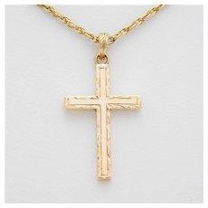 Vintage 14k Gold Cross Pendant