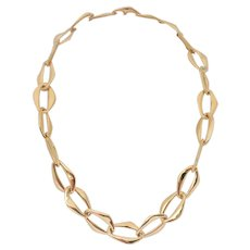 Vintage 18k Gold Aegean Link Necklace Signed by Elsa Peretti, TIFFANY & CO.