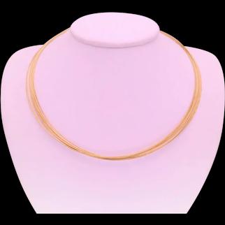 Vintage 14k Gold Multi-Strand Cable Necklace