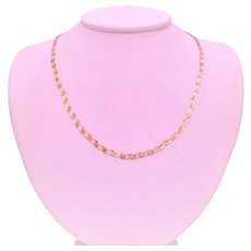 Vintage 3-Tone Gold Braided Chain Necklace
