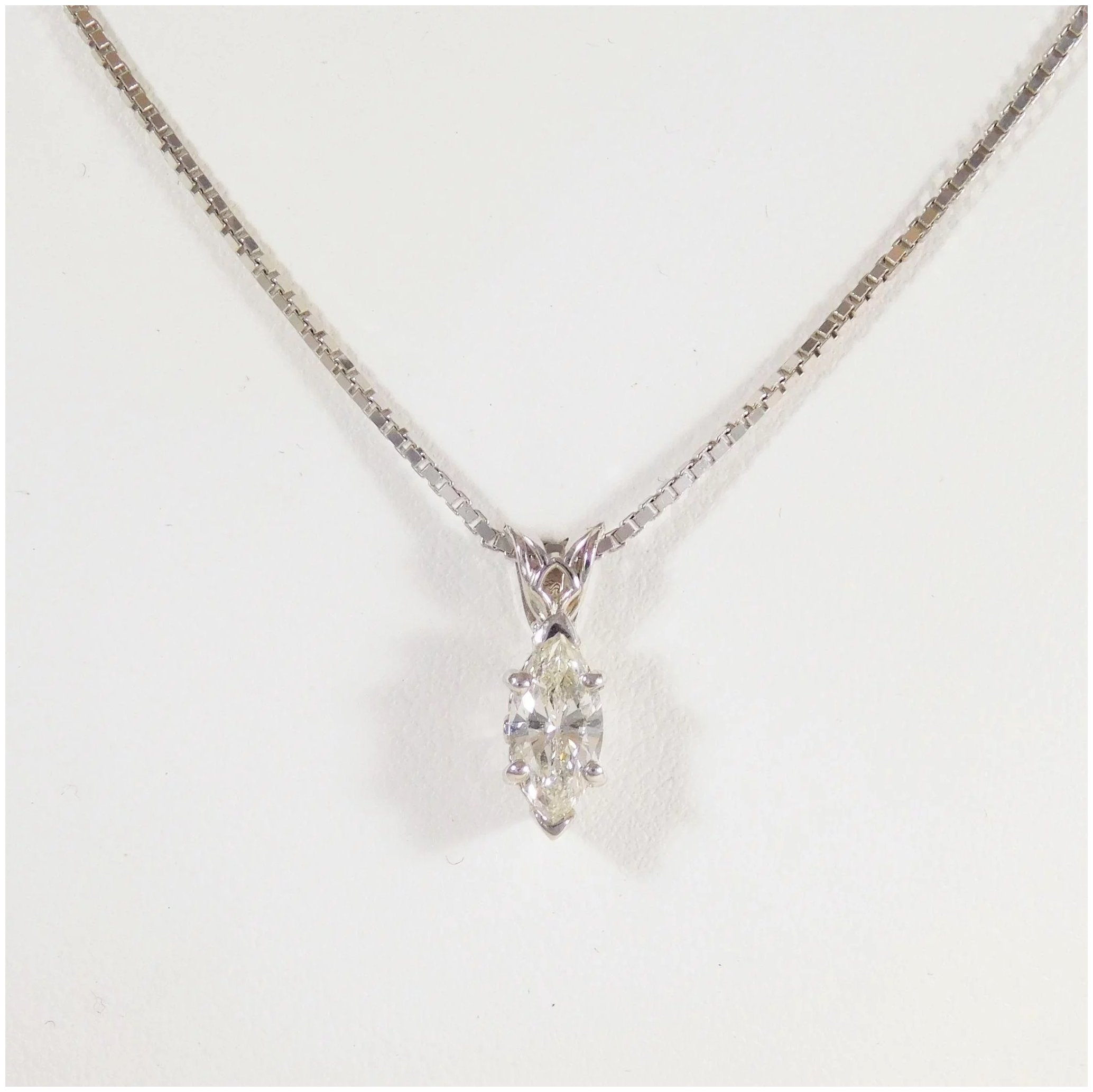 with marquise image gold hortense jewelry of an white product solid in handmade diamond mm set necklace extra