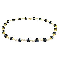 Stunning 14k Gold and Black Pearl Necklace