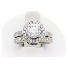 GIA Certified 2.75 Carat Handcrafted Diamond Bridal Set