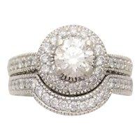 2.45 Carat Handcrafted Diamond Bridal Set