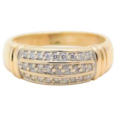 Vintage Gold and Diamond Band Ring
