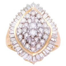 Vintage 1.80ct Diamond Cluster Ring