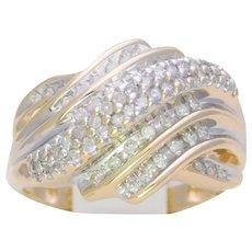 Vintage 10k Diamond Cluster Ring