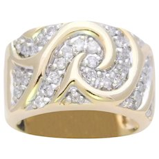 Retro Diamond Band Cluster Ring