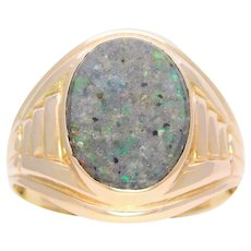 Gent's 14k Vintage Louisiana Opal Ring