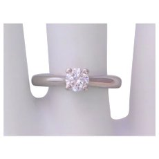 Platinum D Color Solitaire Diamond Engagement Ring