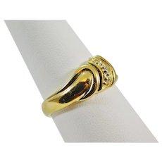 Ladies 14 Karat Gold & Diamond Ring