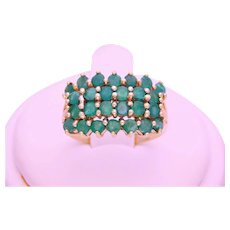 Vintage Natural Emerald Cluster Ring
