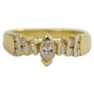 Ladies 18 karat Yellow Gold Diamond Ring