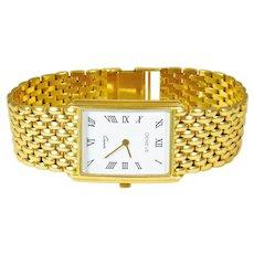 Genève yellow Gold Vintage Luxury quartz Wristwatch, circa 1980