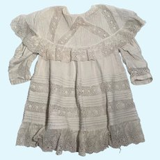 Antique cotton French outfit for very large French dolls
