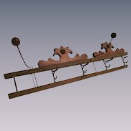 Wood Wall Hat Holder, Coat Rack, Fold Up