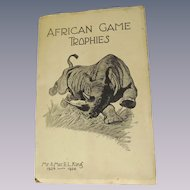1924-26 African Game Trophies, Big Game Expedition, E L King