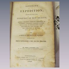 1848 Doniphan's Expedition by John T Hughes A B of the First Regiment of Missouri Cavalry, Illustrated,  Publ J A & U P James