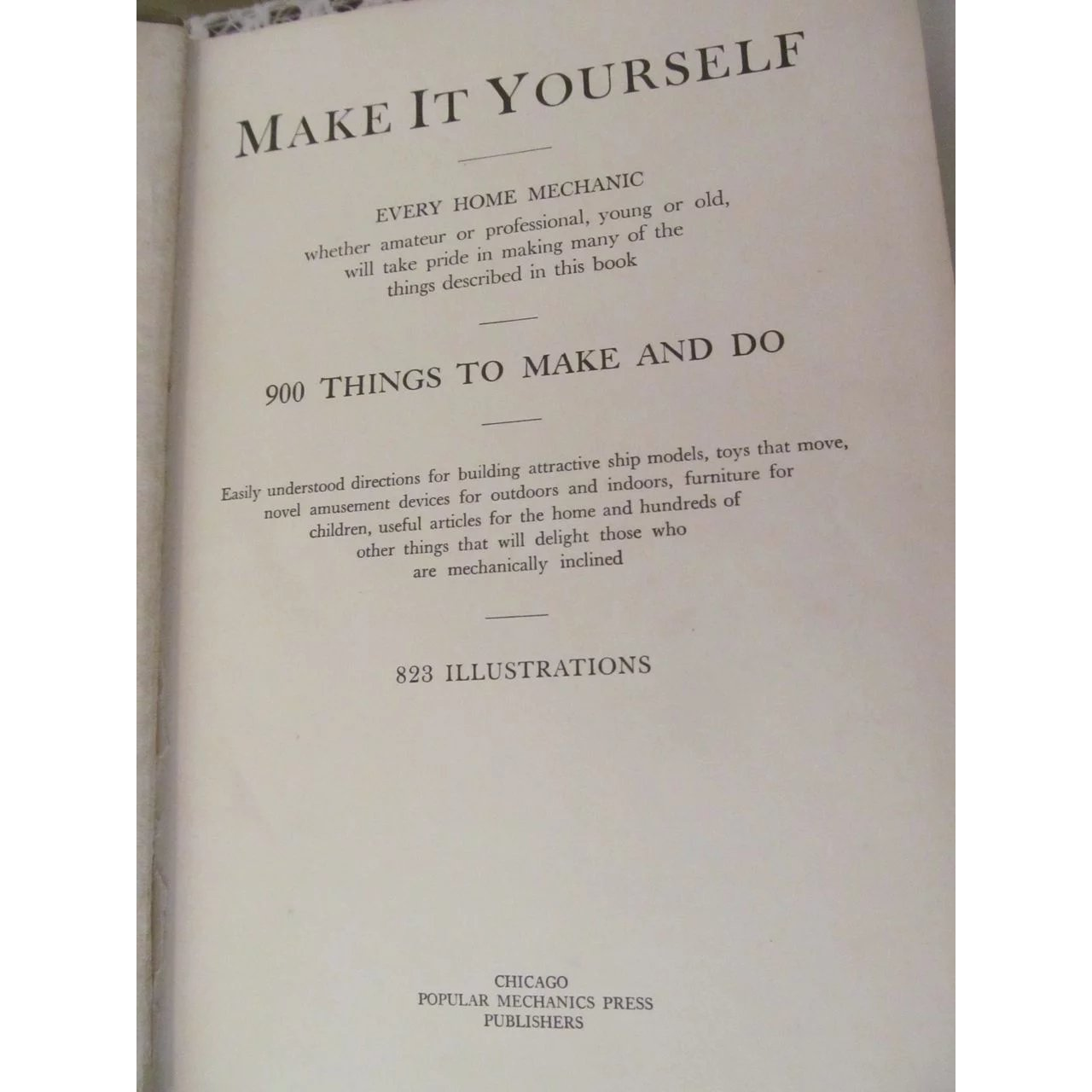 1927 make it yourself by popular mechanics 900 things to do 823 1927 make it yourself by popular mechanics 900 things to do 823 prairieland antiques ruby lane solutioingenieria Images