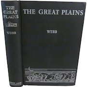 1931 The Great Plains by Walter Prescott Webb, Publ Ginn and Company