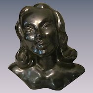 """Willoughby Studio 7"""" Lady Head Bust, Dated 1949"""