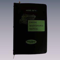 1959 EMD Diesel Locomotive Engine Maintenance Manual  for Model 567C Engines, General Motors Corp
