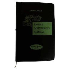 1957 EMD Diesel Locomotive Engine Maintenance Manual for Model 567C Engines, General Motors Corp