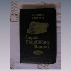 1953 EMD Diesel Locomotive Engine Maintenance Manual for Model 5678 Engines, General Motors Corporation