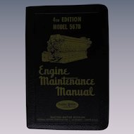 1953 EMD Diesel Locomotive Engine Maintenance Manual for Model 5678 Engines, General Motors Corporation