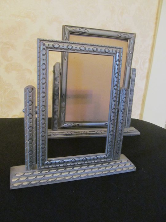 Pair Art Deco Swing Picture Frames SOLD   Ruby Lane