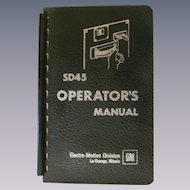 1968 EMD SD45 Diesel Locomotive Operators Manual, General Motors