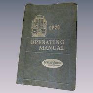 1959 EMD Diesel Locomotive Operating Manual for Model GP20, General Motors