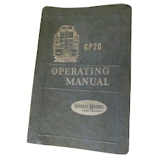 1959 EMD Diesel Locomotive Operating Manual for Model GP20, General Motors