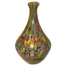 "Lovely Millefiori 10"" Paperweight Vase"