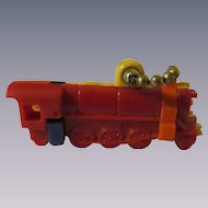 Railroad Train Engine Plastic Put Together Pull Apart Puzzle Key Chain