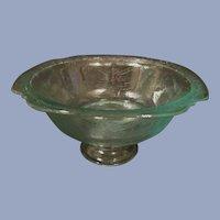 Madrid Recollections Teal Footed Bowl by Indiana
