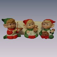 Homco Christmas Elves with Toys #5253 with Box