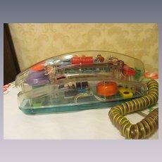 Unisonic See Thru Psychodelic Push Button Phone, Lights Up
