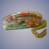 Unisonic See Thru Psychodelic Push Button Phone, Lights Up