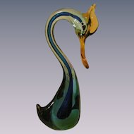 Large Murano Bird Figurine