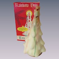 "Gurley Rainbow Drip 8"" Christmas Tree Candle with Box"
