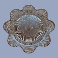 EAPG McKee Motto Bread Plate Platter, A Good Mother Makes a Happy Home