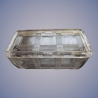 Hazel Atlas Criss Cross Rectangular Refrigerator Dish