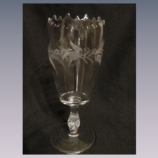 EAPG Etched Celery Vase