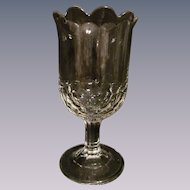 EAPG Flint New York Honeycomb aka Four Row Honeycomb Celery Vase