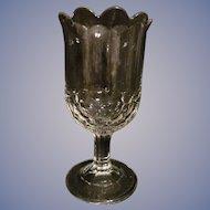 EAPG Flint New York Honeycomb aka Four Row Honeycomb Celery Vase