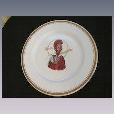 Hotel Blackhawk, Indian Chief, Davenport IA Restaurant Dinner Plate, Syracuse China