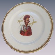 Hotel Blackhawk, Indian Chief, Davenport IA Restaurant Dinner Plate, Syracuse China